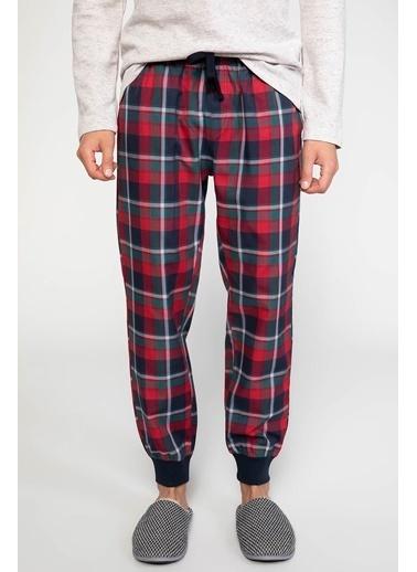 DeFacto Kareli Pijama Altı Bordo